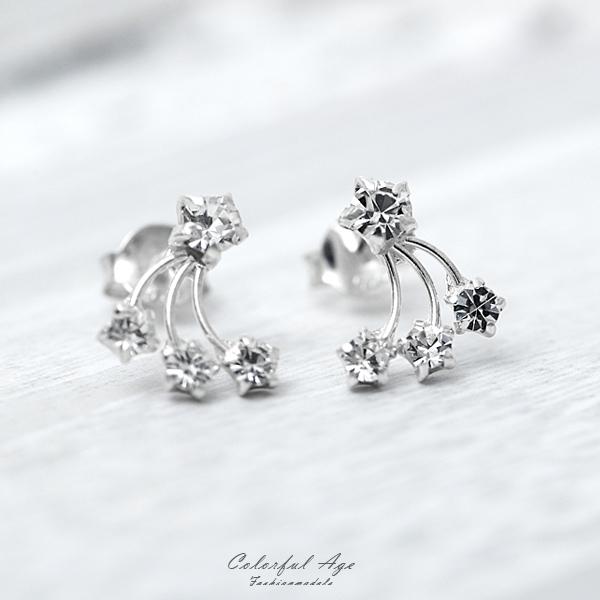 銀飾 水鑽櫻桃耳針純銀耳環【NPD125】一對價格