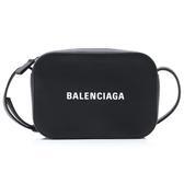 ■專櫃58折■Balenciaga 巴黎世家 全新真品 552372 Camera XS Logo小牛皮相機包 黑色
