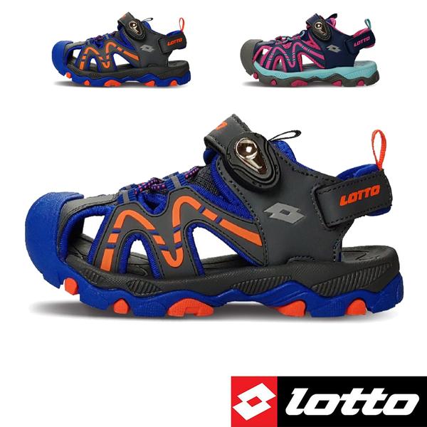 男女童 LOTTO 3383 透氣排水防滑耐磨 水陸車鞋 休閒運動涼鞋 護趾涼鞋 兒童涼鞋 59鞋廊