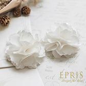 白色緞面韓版氣質裝飾花朵鞋扣鞋夾配飾