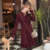 東京著衣-巴黎女孩甜美綁帶洋裝-S.M(172754)