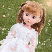 芭比娃娃 套裝女孩玩具會說話的仿真婚紗公主洋娃娃超大 生日禮物