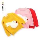寶寶毛衣1-3歲6嬰兒打底衫女童針織加絨加厚套頭洋氣小童冬裝毛衫 蘿莉小腳丫
