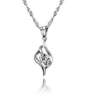 純銀項鏈 愛意有緣項鏈 首飾 銀飾品 女
