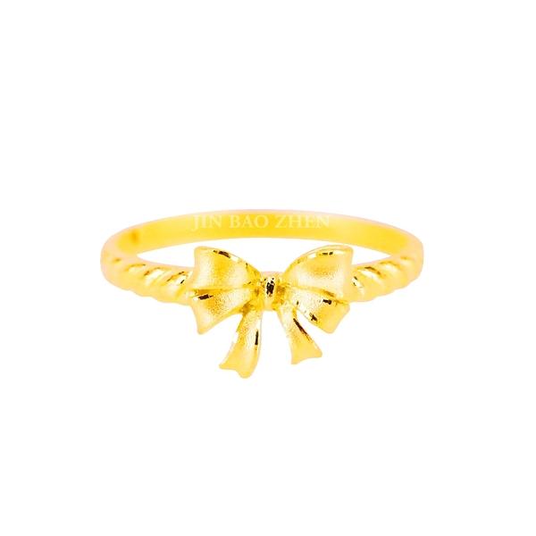心繫-蝴蝶結黃金戒指