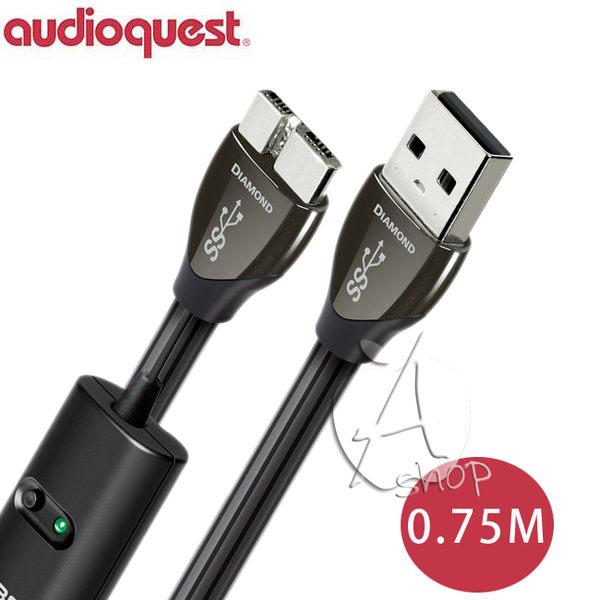 【A Shop】美國 Audioquest USB 3.0 DIAMOND 傳輸線 0.75M(A-MICRO)