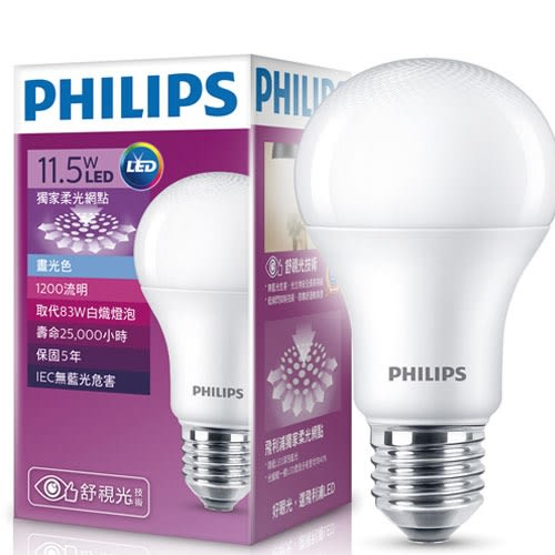 Philips 飛利浦LED廣角燈泡 11.5W 白光【愛買】