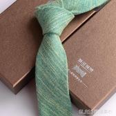 韓版棉領帶男正裝商務工作上班學生英倫結婚黑色6cm窄版細禮盒裝 琉璃美衣