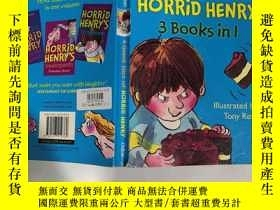 二手書博民逛書店a罕見giant slice of horrid henry 3 books in 1 一大塊可怕的亨利三本書合