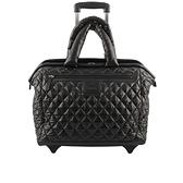 【CHANEL】菱格紋COCO COCOON 尼龍空氣行李箱(黑色) CH77000001