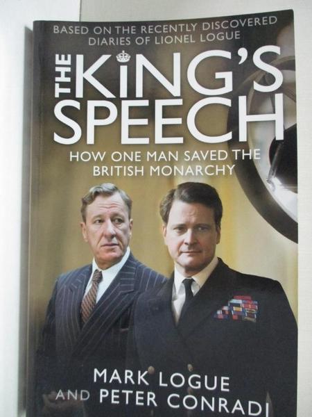 【書寶二手書T1/政治_DYC】The King s Speech: How One Man Saved the British Monarchy