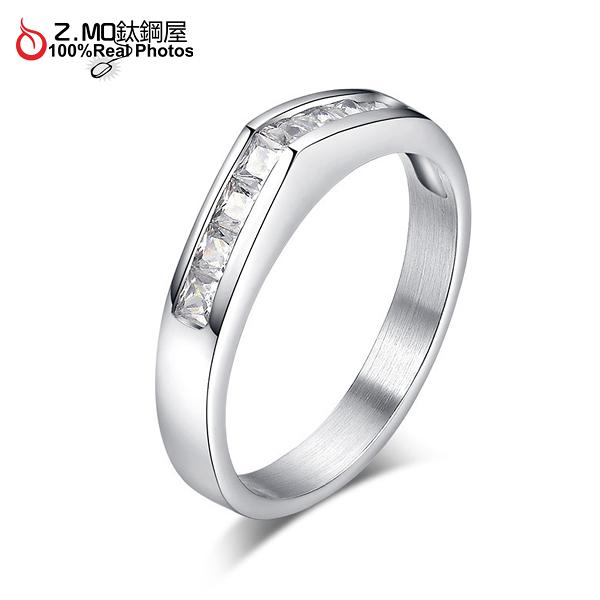 [Z-MO鈦鋼屋]316L鈦鋼戒指/精緻婚戒/女孩禮物/戀人禮物/搭洋裝推薦 單個價【BGS166】