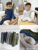 嬰童裝衣褲男童寶寶冬季家居服保暖兒童睡衣長袖套裝   艾美時尚衣櫥