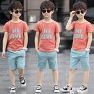 男童夏裝套裝夏季童裝兒童中大童帥氣6-15歲男孩 歐韓時代
