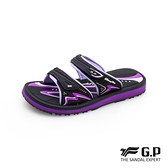 G.P(女)高彈性舒適雙帶拖鞋 女鞋-紫(另有黑桃)