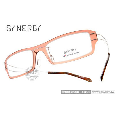 SYNERGY 光學眼鏡 SY3602 C020 (咖啡棕) NXT 防彈材質 極簡結構 平光鏡框 # 金橘眼鏡