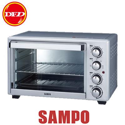 SAMPO 聲寶 KZ-PG30F 油切旋風電烤箱 5段火力 獨立發酵 60分鐘定時 公司貨 KZPG30F