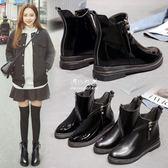 馬丁靴   馬丁靴女英倫風學生切爾西靴韓版平底百搭短靴子冬 『伊莎公主』