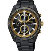 SEIKO Criteria 極速限定計時男錶-黑X金