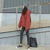 連帽衛衣學院風寬鬆學生加絨純色套頭【不二雜貨】