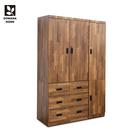 【多瓦娜】MIT日式工業-集成4X7四抽衣櫃-18048-WB2T
