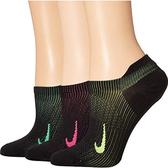 Nike耐吉- 女3包組日常輕量運動襪(黑色)
