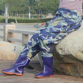 齊腰下水褲半身水叉捕魚褲連身高腰水褲雨褲釣魚防水褲插秧褲