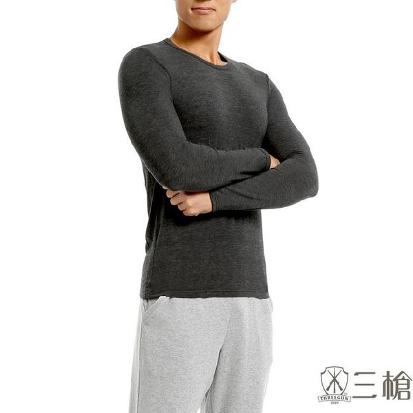 三槍牌 2件組黑色時尚經典台灣製男長袖TG-HEAT發熱衣