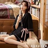 2021年新款日式和服睡衣女短袖純棉夏季可愛套裝可外穿春秋家居服 創意家居生活館