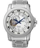 SEIKO 羅馬典藏鏤空視窗機械腕錶-銀