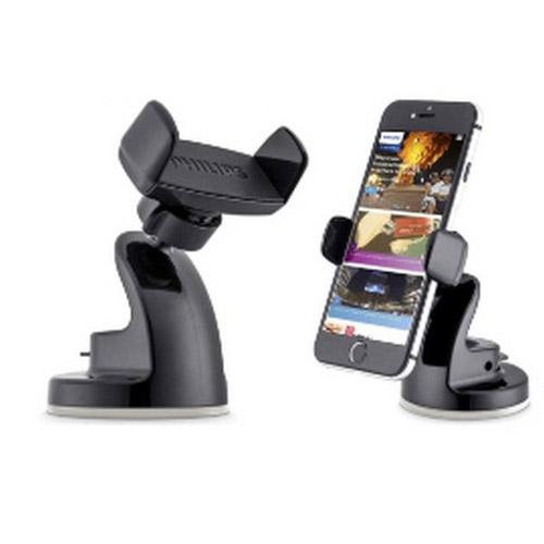【免運費】PHILIPS 360度旋轉專利矽膠吸盤式萬用手機車架