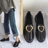 皮鞋黑色休閒女英倫學院風韓版一腳蹬工作女鞋春新平底單鞋 科炫數位