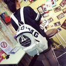 帆布後背包日韓潮校園男女高中學生書包休閒百搭字母旅行背包【元氣少女】