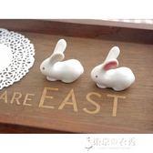 日本手工制陶瓷筷子托筷子架兔子 東京衣秀