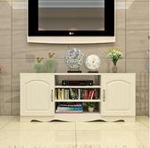 簡約現代電視櫃歐式鋼化玻璃客廳茶幾組合小戶型迷你地櫃視聽櫃子 聖誕交換禮物xw