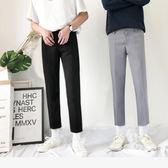 新款夏季韓版修身休閑九分顯瘦英倫西裝直筒小腳褲 QQ324『優童屋』