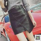 皮裙 半身裙短裙女秋冬季夏新款一步裙高腰包臀a字黑色pu小皮裙子 雙12狂歡