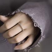 簡約幾何925銀戒指個性中性實指中指/設計家