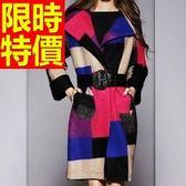 風衣大衣 長版-時尚溫暖羊毛日系女毛呢外套62v34【巴黎精品】
