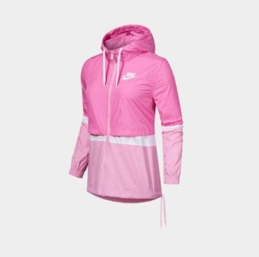 NIKE服飾系列-NSW JKT WVN 女款桃紅色運動風衣-NO.AJ2983610