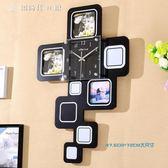掛鐘時鐘大號相框客廳臥室裝飾現代時尚靜音北歐個性掛錶鐘錶igo 【創時代3c館】
