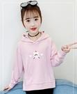 衣童趣(•‿•)韓版女童上衣 可愛女孩印花 大口袋 百搭帽T 秋冬長袖上衣