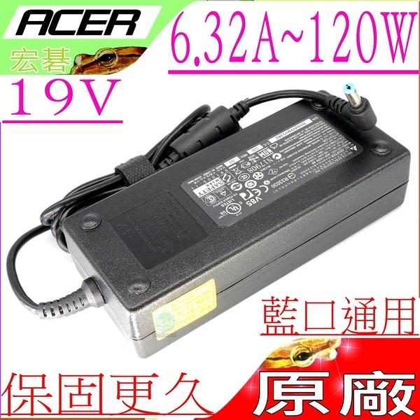 ACER 19V,6.32A 充電器(原廠)-宏碁 120W,5350,5745,5750,5820,5820T,7745G,7750G, 7750Z, Adp-120ZB BB