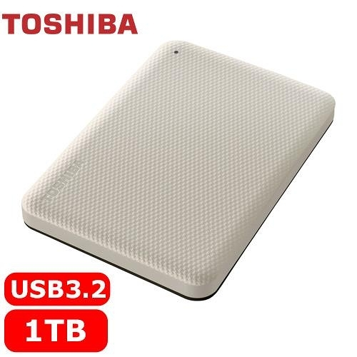TOSHIBA Canvio Advance V10 1TB 外接式硬碟 白