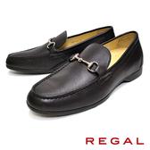 【REGAL】金屬釦環樂福鞋 深咖(T96A-DBR)