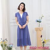 【RED HOUSE 蕾赫斯】V領長洋裝