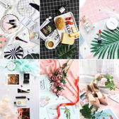 拍照道具 拍攝背景布紙板化妝品飾品美甲美食鞋子裝飾攝影擺件igo