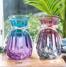 花瓶 北歐創意花瓶擺件客廳透明玻璃簡約水養插花小干花花器裝飾【快速出貨八折鉅惠】