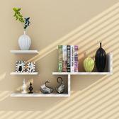 墻壁架子隔板墻上置物架 現代簡約客廳創意書架電視背景壁掛裝飾WY 全館八五折 最後一天!