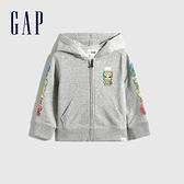 Gap男幼童 Gap x Marvel 漫威系列印花連帽外套 742554-石楠灰